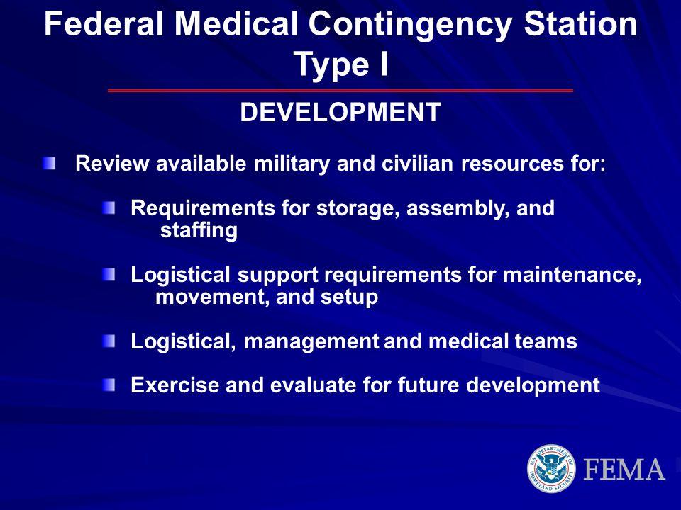 Federal Medical Contingency Station