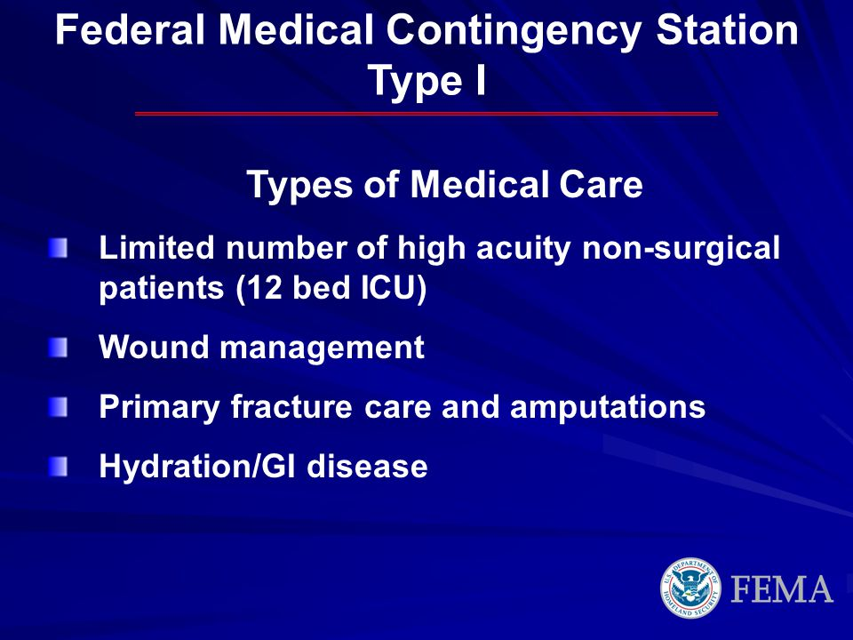 Federal Medical Contingency Station