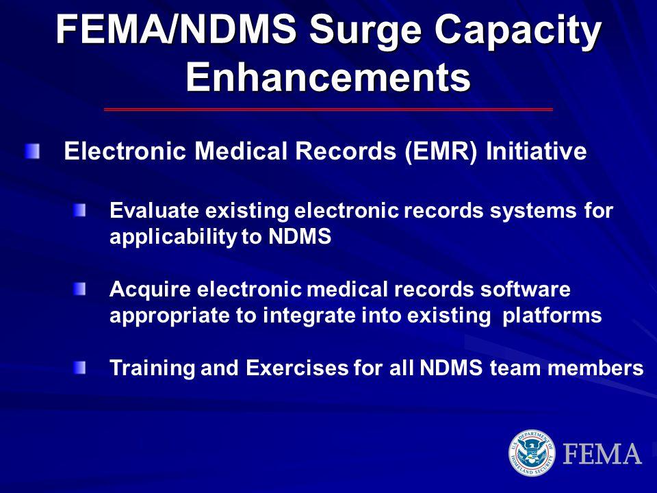 FEMA/NDMS Surge Capacity Enhancements