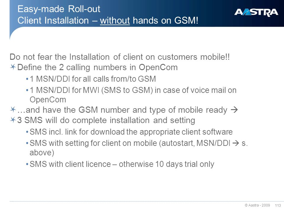 Easy-made Roll-out Client Installation – without hands on GSM!