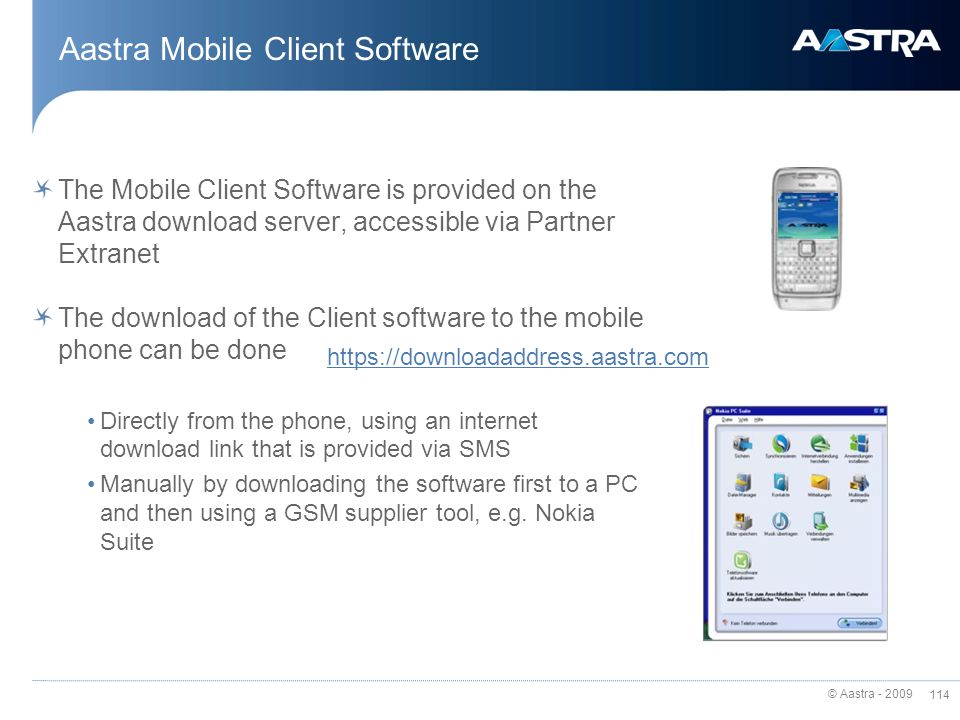 Aastra Mobile Client Software