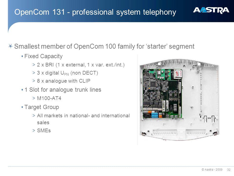 OpenCom 131 - professional system telephony
