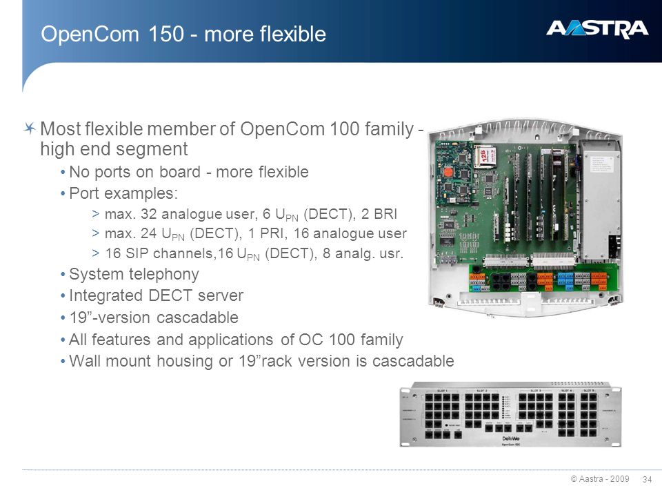 OpenCom 150 - more flexible