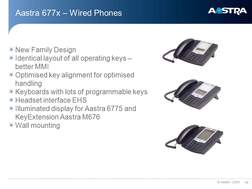 Aastra 677x – Wired Phones New Family Design