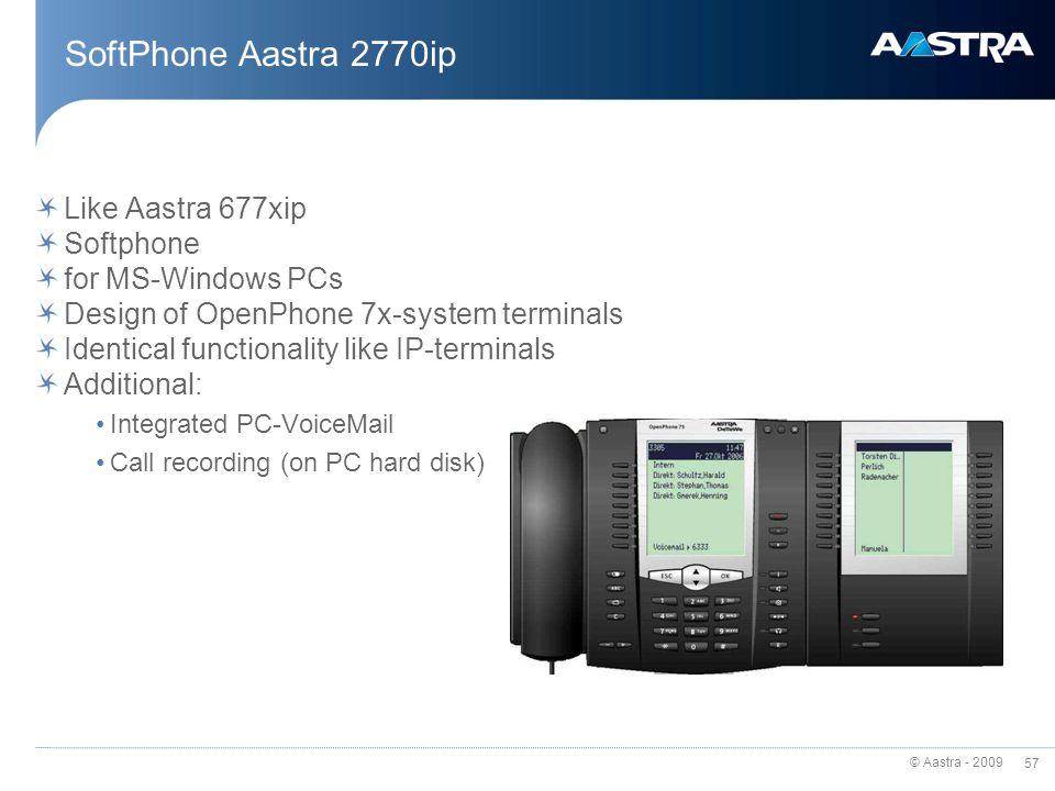 SoftPhone Aastra 2770ip Like Aastra 677xip Softphone