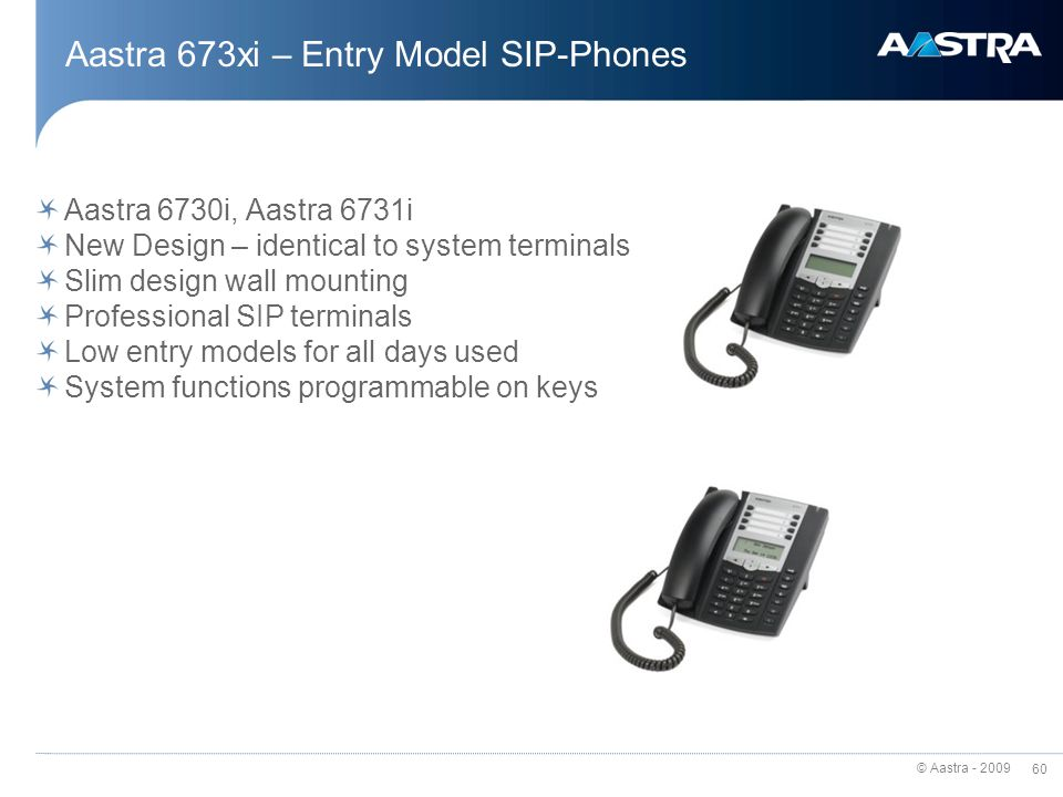 Aastra 673xi – Entry Model SIP-Phones