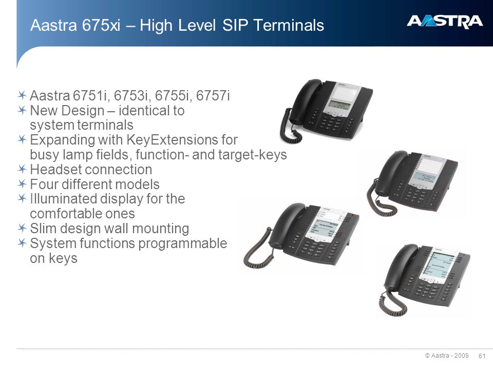 Aastra 675xi – High Level SIP Terminals