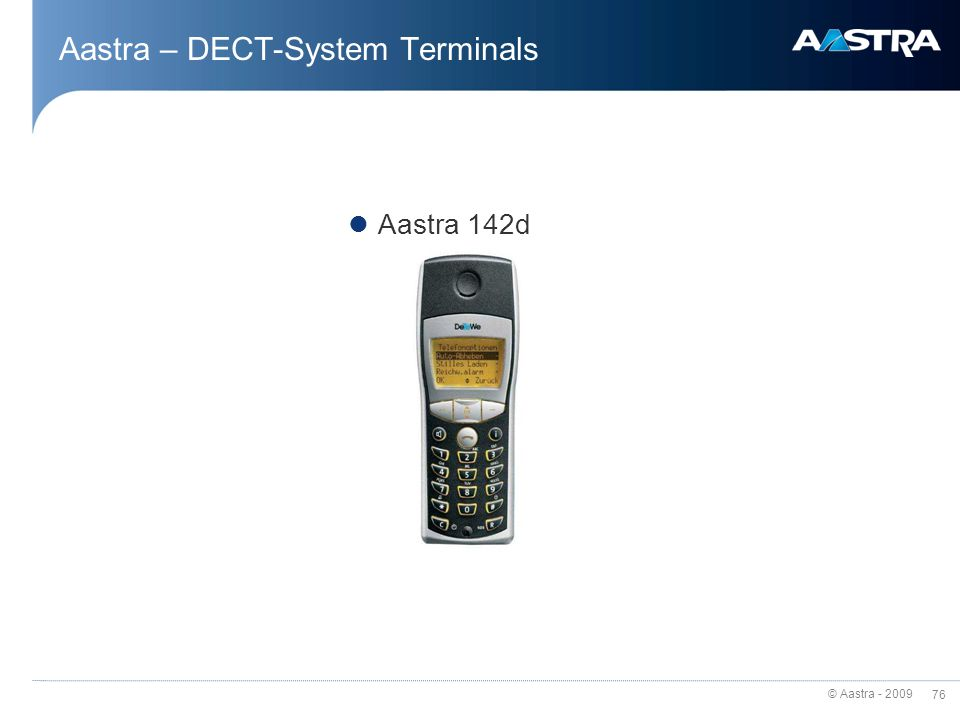 Aastra – DECT-System Terminals