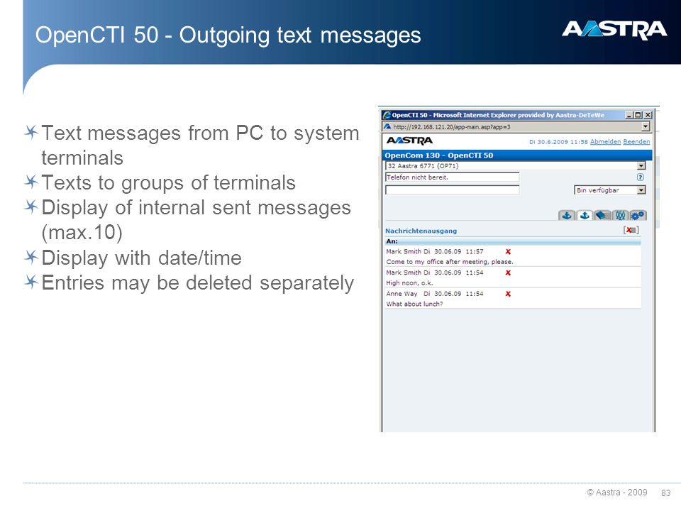 OpenCTI 50 - Outgoing text messages