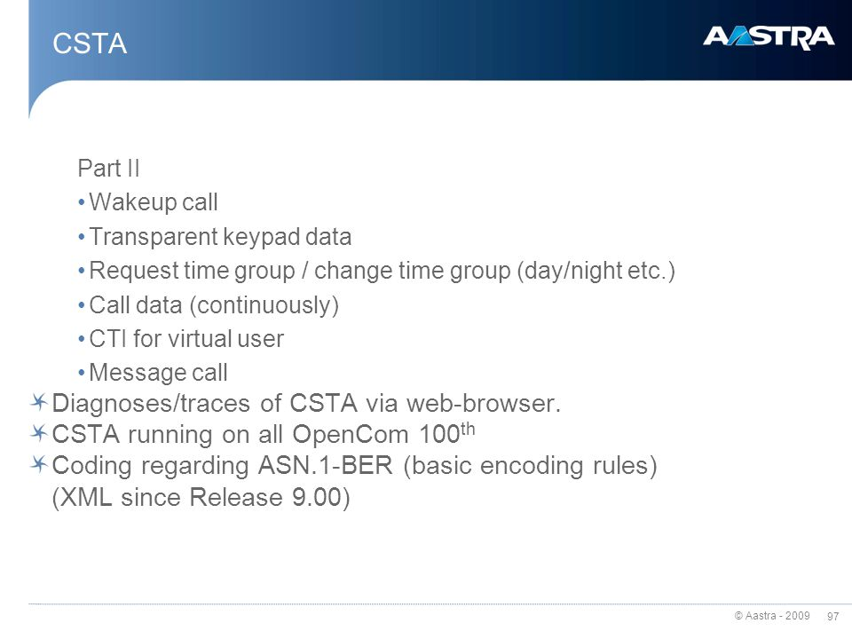 CSTA Diagnoses/traces of CSTA via web-browser.