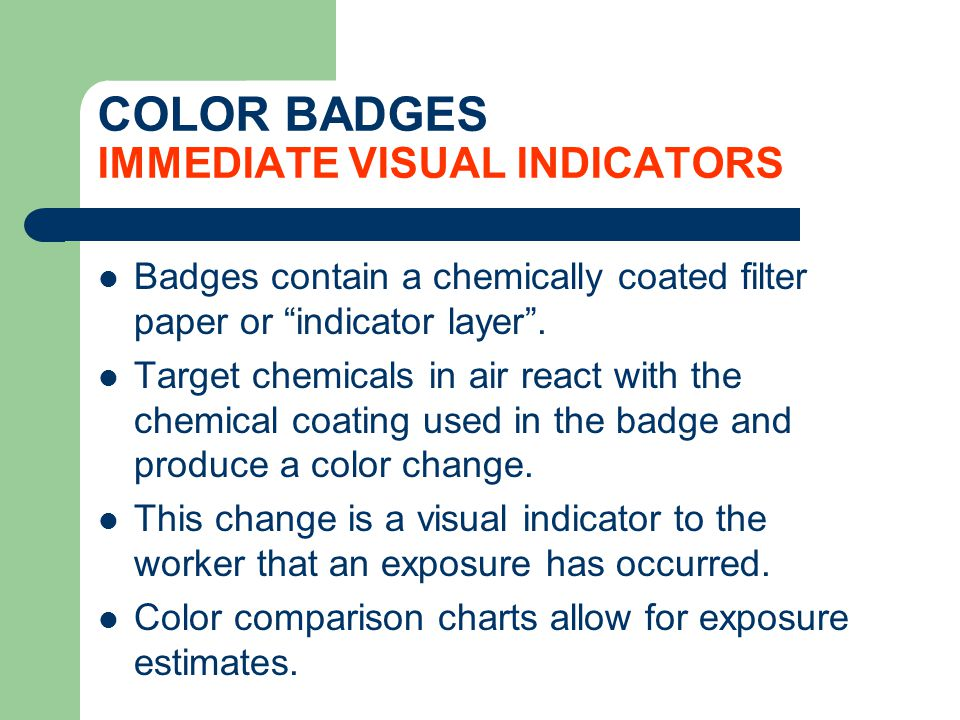 COLOR BADGES IMMEDIATE VISUAL INDICATORS