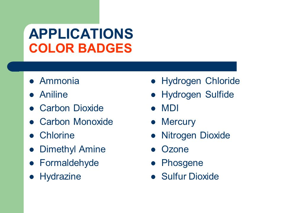 APPLICATIONS COLOR BADGES