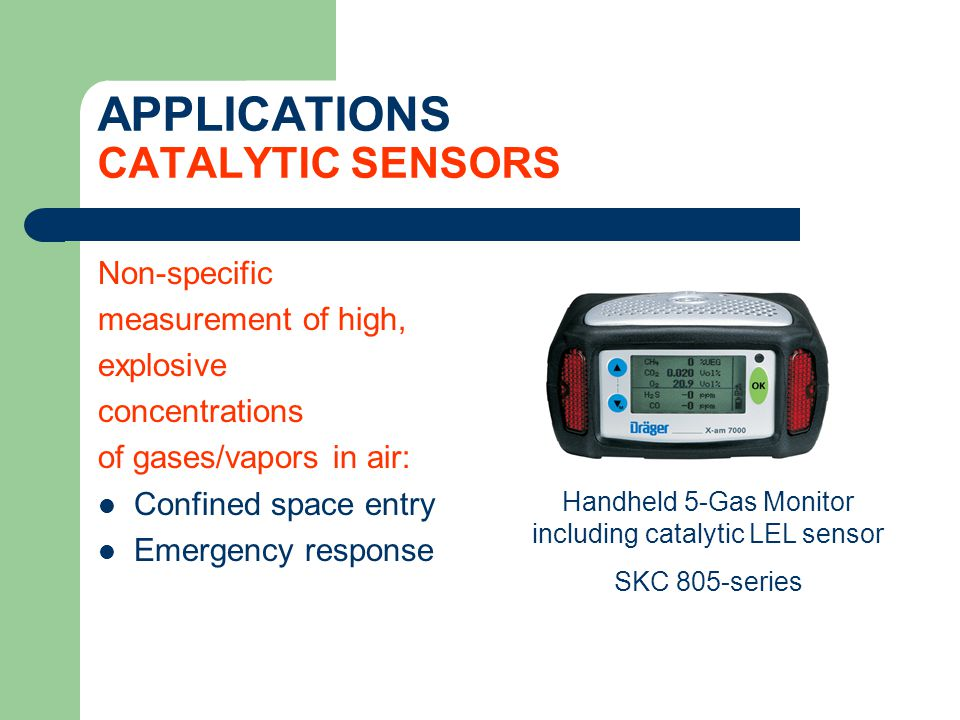 APPLICATIONS CATALYTIC SENSORS