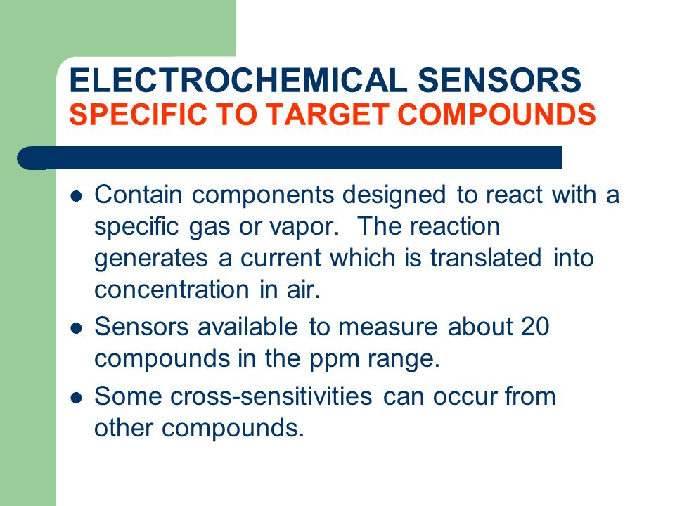 ELECTROCHEMICAL SENSORS SPECIFIC TO TARGET COMPOUNDS