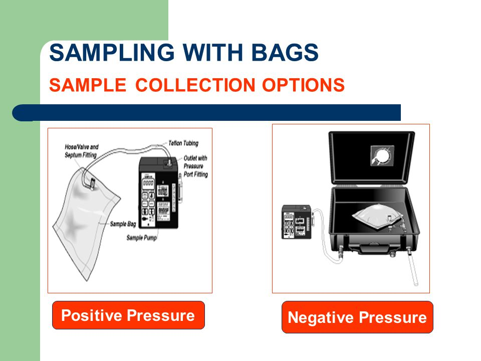 SAMPLING WITH BAGS SAMPLE COLLECTION OPTIONS