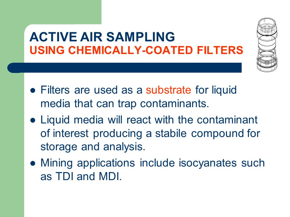 ACTIVE AIR SAMPLING USING CHEMICALLY-COATED FILTERS