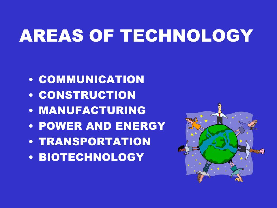 AREAS OF TECHNOLOGY COMMUNICATION CONSTRUCTION MANUFACTURING