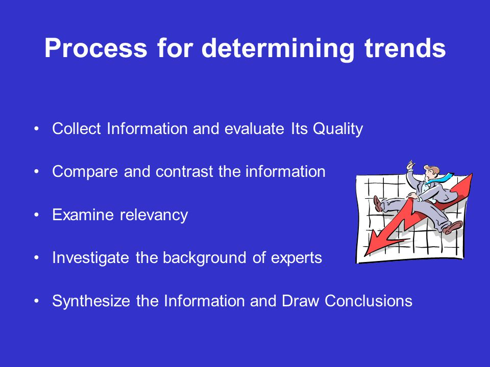 Process for determining trends