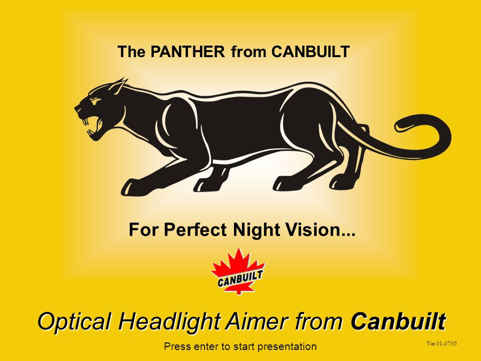 The PANTHER from CANBUILT