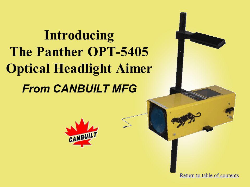 Introducing The Panther OPT-5405 Optical Headlight Aimer