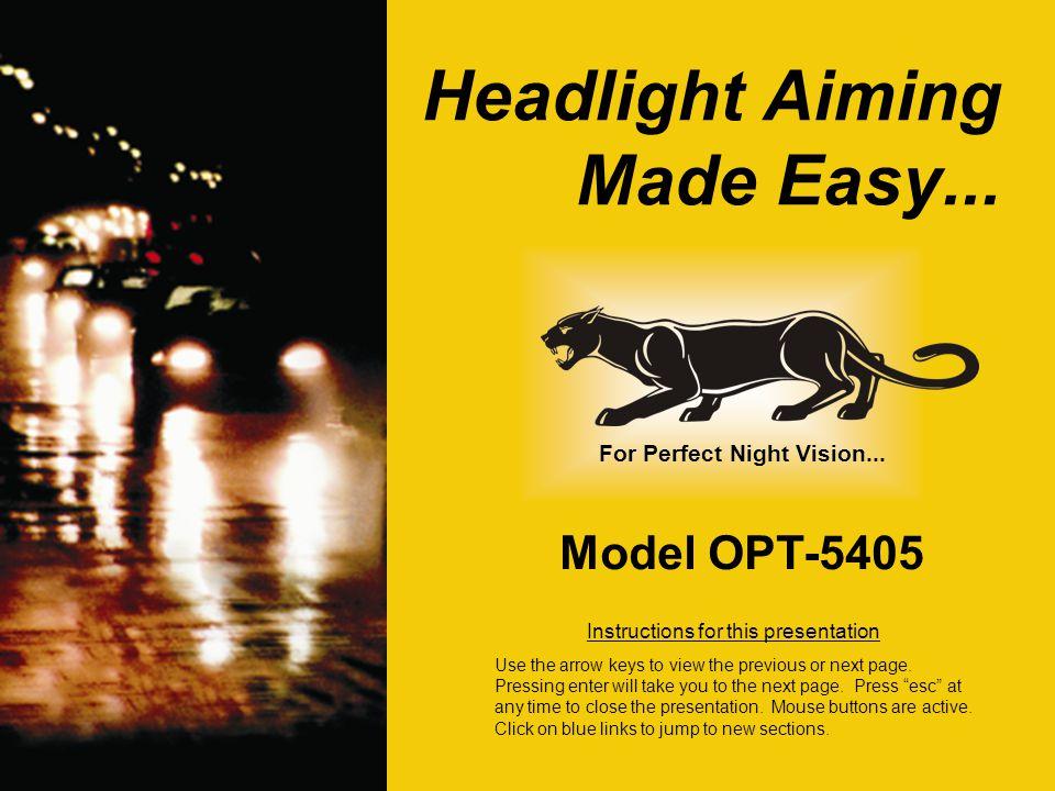 Headlight Aiming Made Easy...