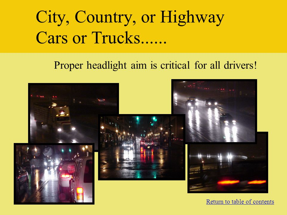 City, Country, or Highway Cars or Trucks......