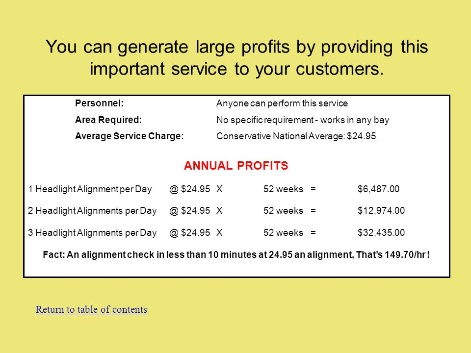 You can generate large profits by providing this important service to your customers.