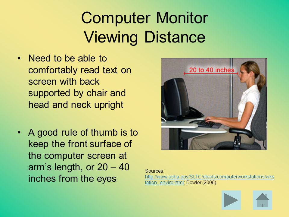 Computer Monitor Viewing Distance