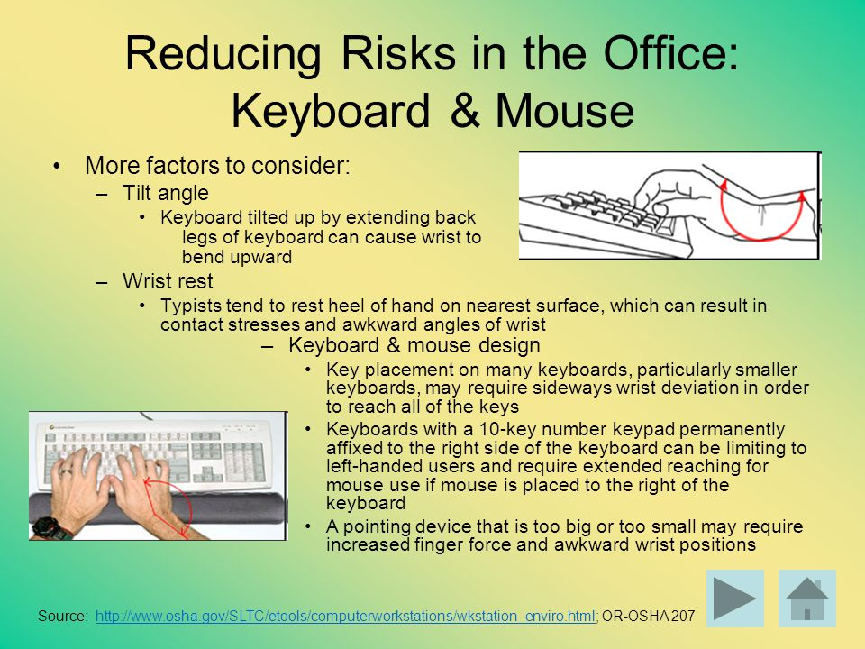 Reducing Risks in the Office: Keyboard & Mouse