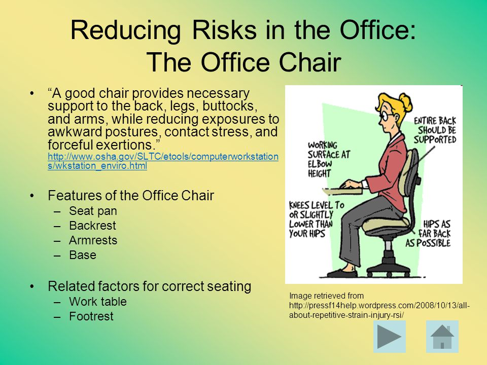Reducing Risks in the Office: The Office Chair