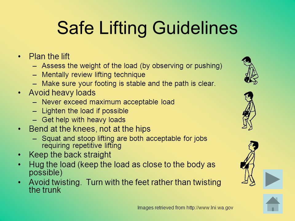 Safe Lifting Guidelines