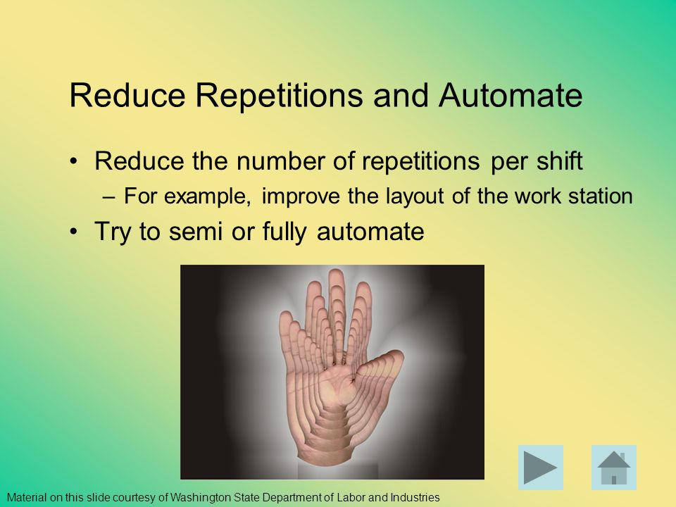 Reduce Repetitions and Automate