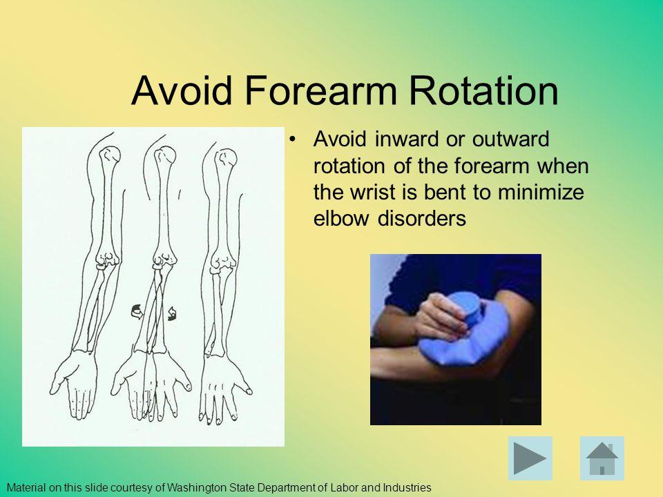 Avoid Forearm Rotation