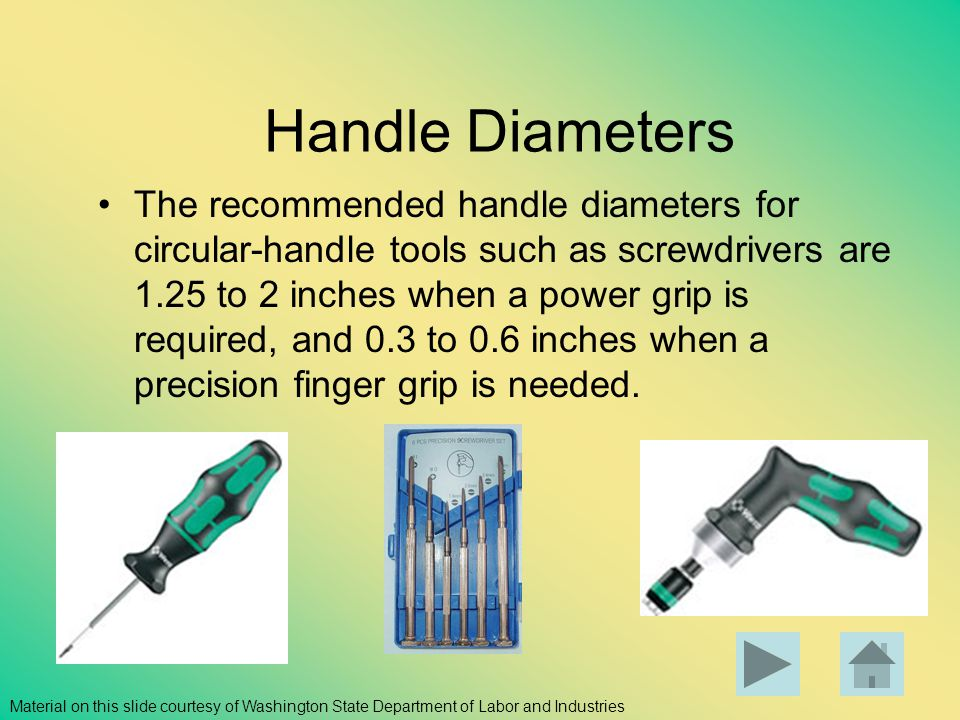 Handle Diameters