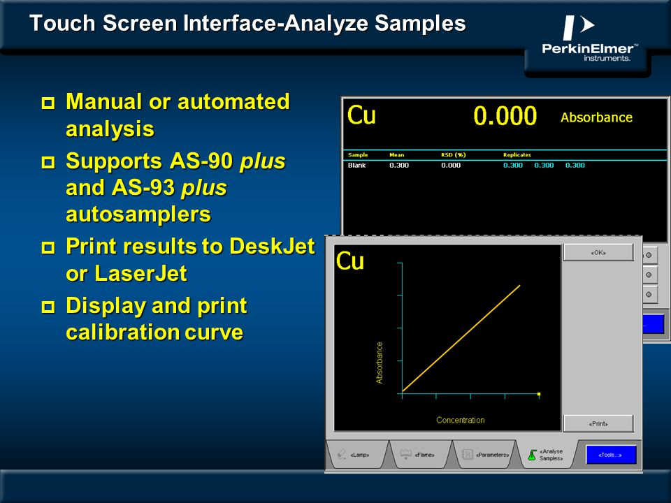 Touch Screen Interface-Analyze Samples