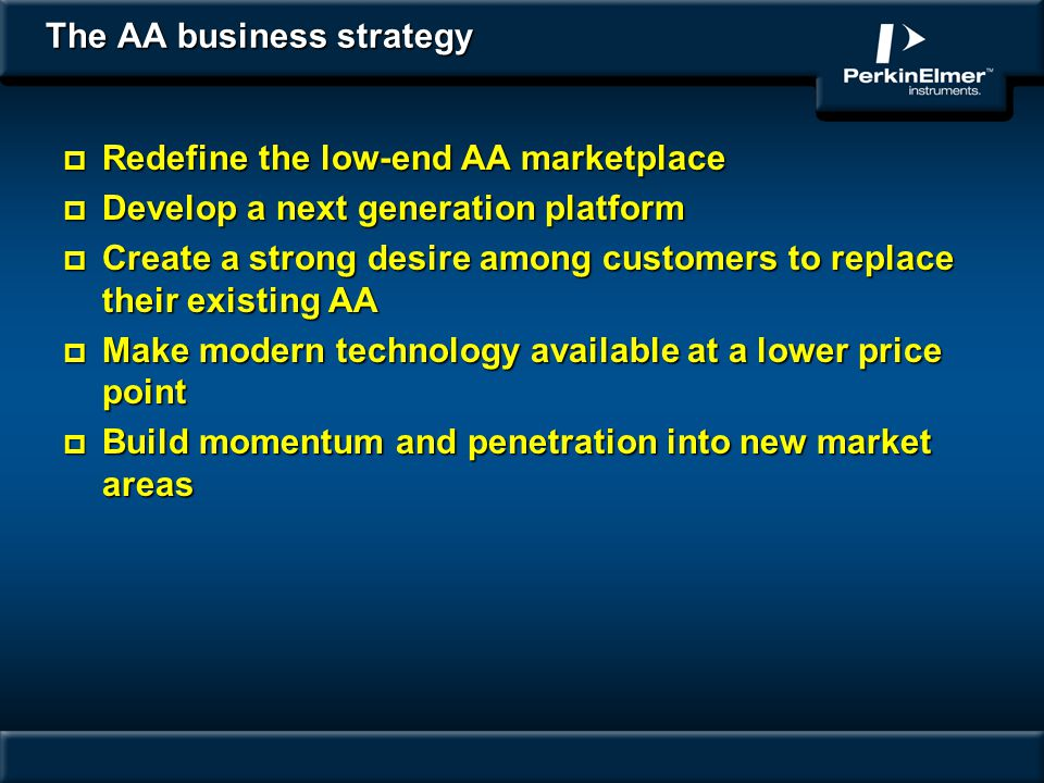 The AA business strategy