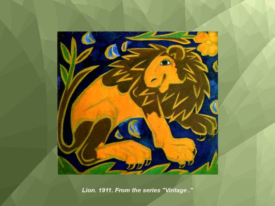 Lion. 1911. From the series Vintage .