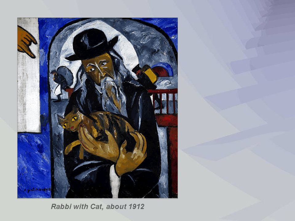 Rabbi with Cat, about 1912