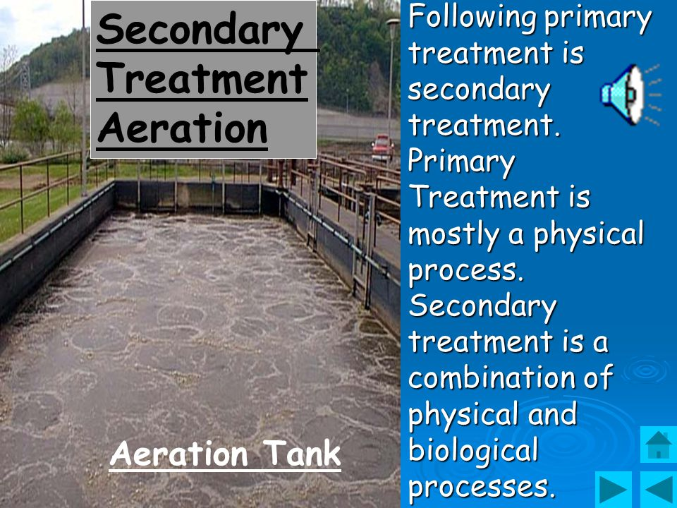 Secondary Treatment Aeration Aeration Tank