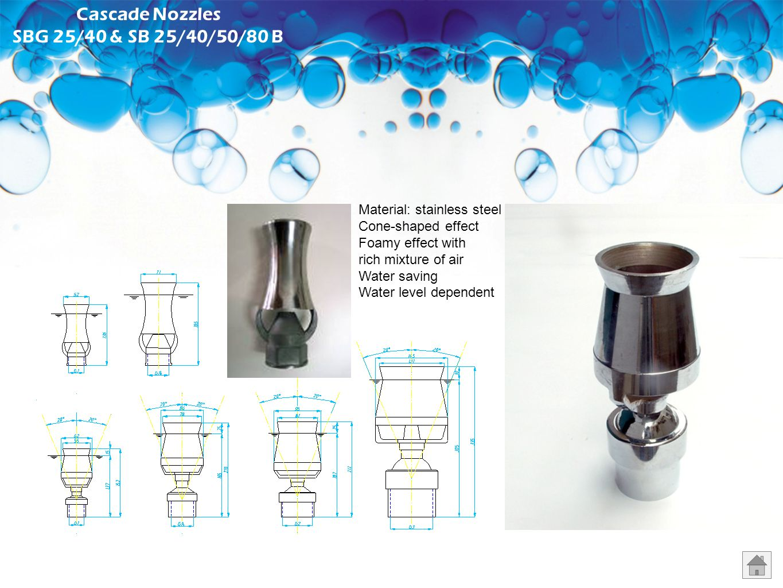Cascade Nozzles SBG 25/40 & SB 25/40/50/80 B