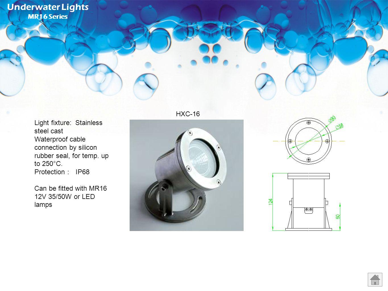 Underwater Lights MR16 Series