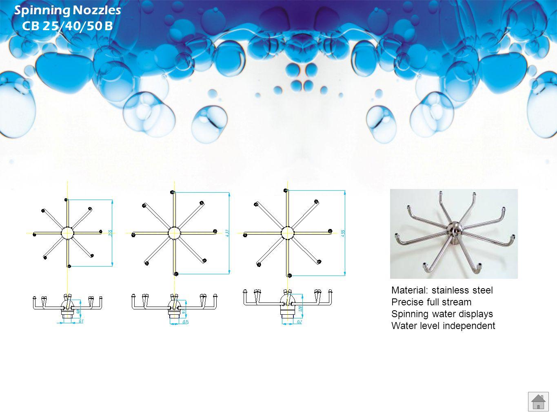 Spinning Nozzles CB 25/40/50 B