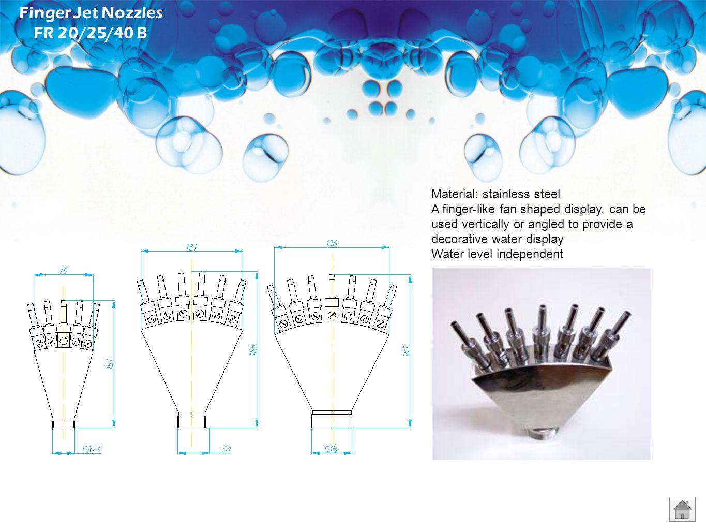 Finger Jet Nozzles FR 20/25/40 B