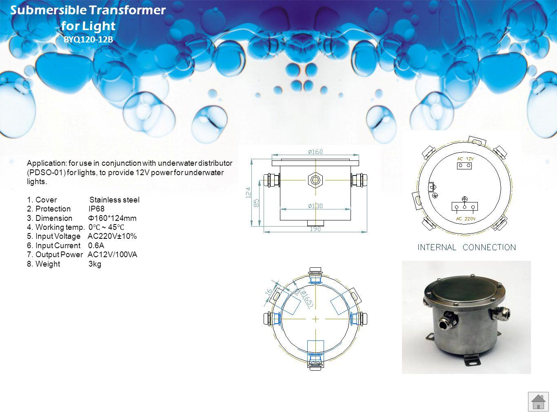 Submersible Transformer for Light BYQ120-12B