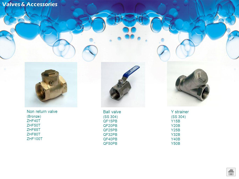 Valves & Accessories Non return valve Ball valve Y strainer (Bronze)