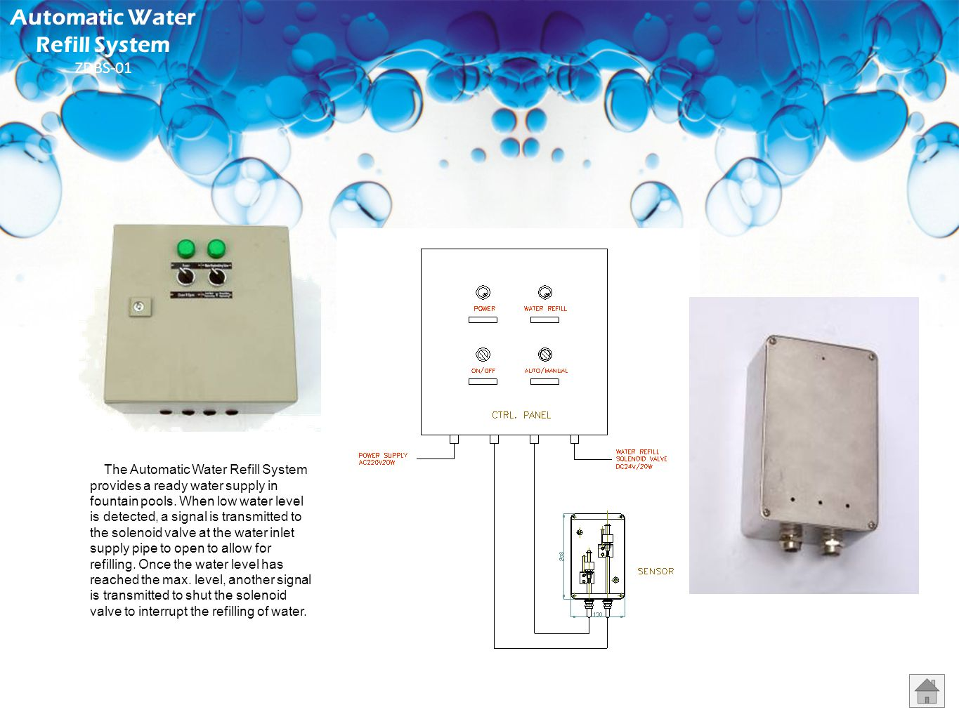 Automatic Water Refill System ZDBS-01