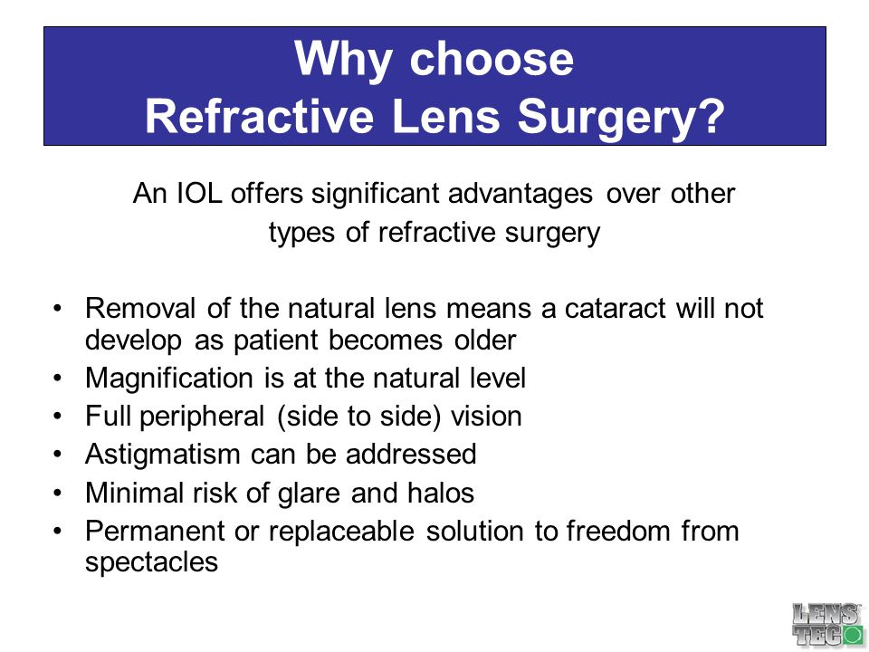 Why choose Refractive Lens Surgery
