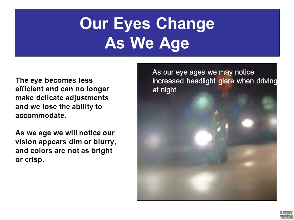 Our Eyes Change As We Age
