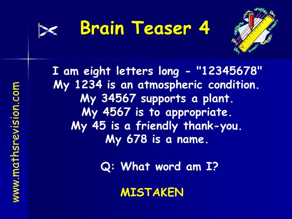 Brain Teaser 4