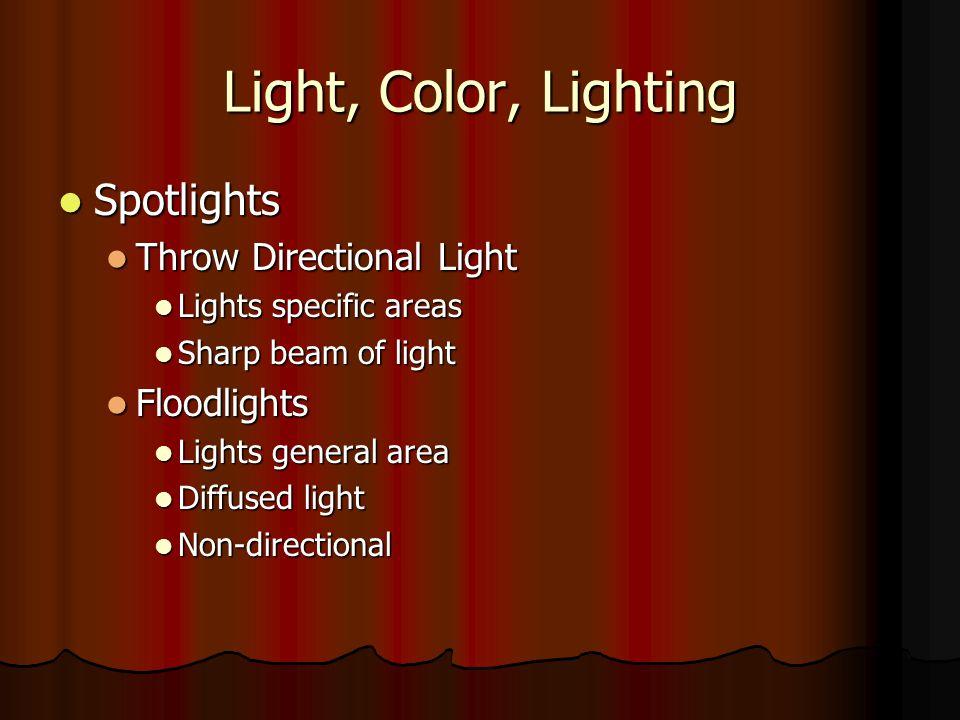 Light, Color, Lighting Spotlights Throw Directional Light Floodlights